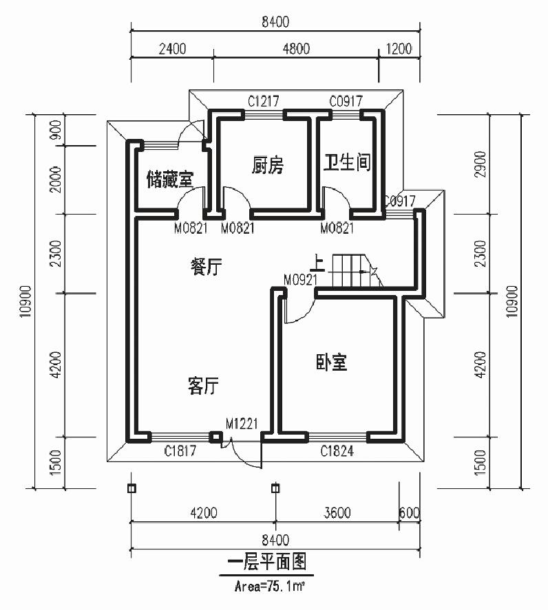 首页 顺筑产品中心 轻钢集成房屋 轻钢集成房屋-b户型图  钢结构住宅