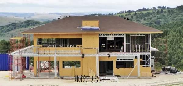 顺筑房屋轻钢别墅施工现场流程
