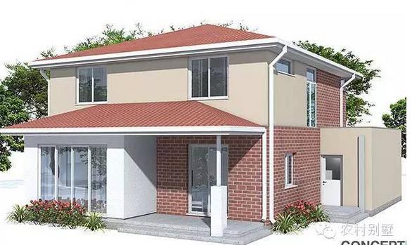 新农村自建农村别墅设计,两层双车库房屋设计图