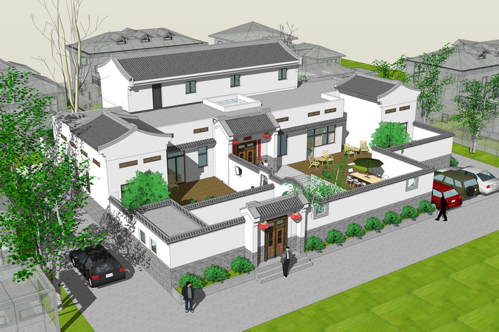 四合院别墅设计图