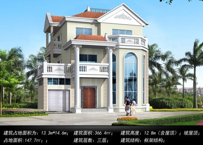 农村3层轻钢别墅设计效果图|顺筑资讯|云南顺筑房屋