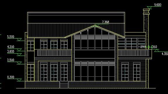 2层乡村小别墅设计图纸