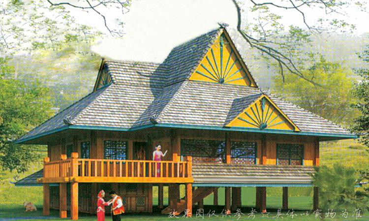 傣族民居房屋图片