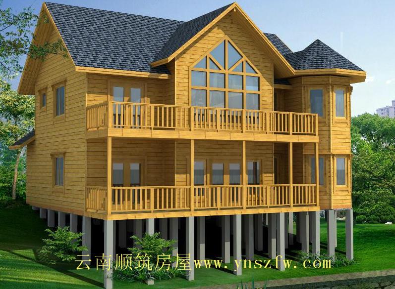 木结构房屋材料的优势造就行业前景光明