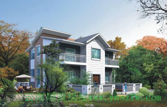 农村二层小别墅自建房设计图效果图