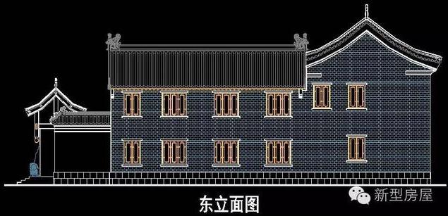 现代四合院设计图,外形仿古风格,书香门第之秀色!