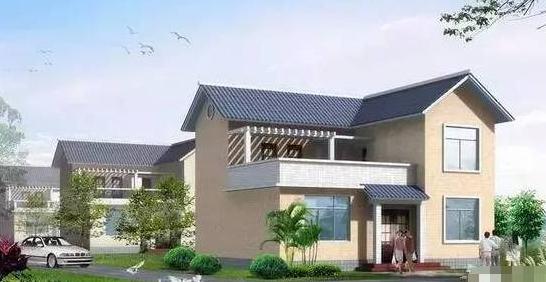7套农村两层轻钢别墅设计图纸及效果图大全