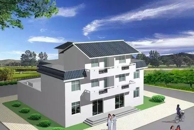 10套农村三层轻钢别墅设计图纸及效果图大全|顺筑