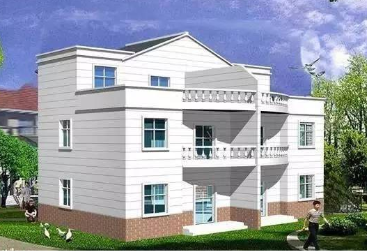 本户型采用平屋顶与坡屋顶相结合,外观造型简洁大方,房间尺度设计适宜