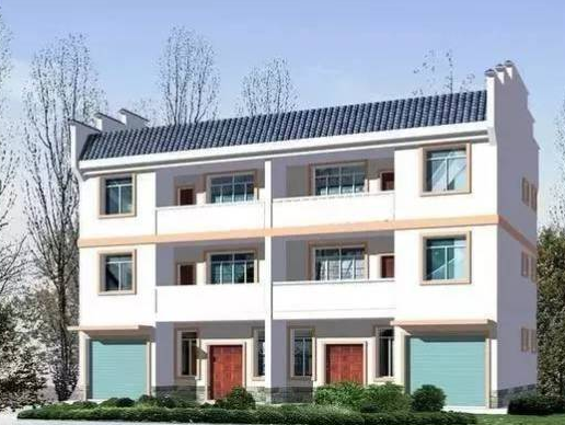 现代农村双拼四间混砖结构图片