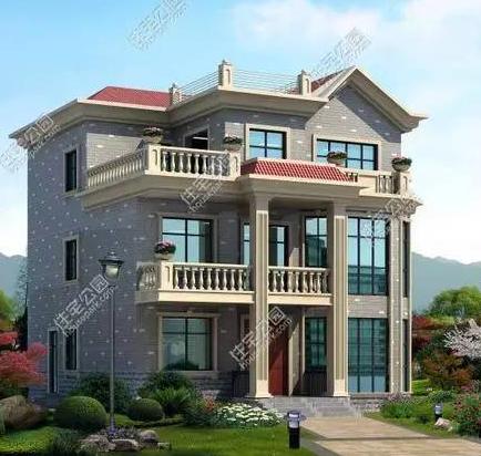 三层农村别墅自建11x11米设计图及效果图