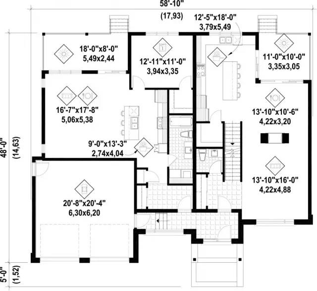 三款带双车库二层新农村别墅图纸 现代风格图片