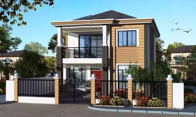 9套农村自建别墅平面设计图和效果图(钢结构别墅