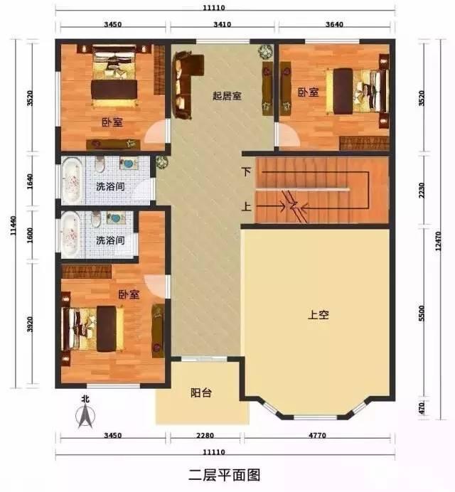 自建别墅设计图和效果图纸(30-50万)