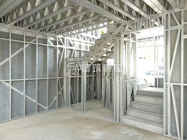 顺筑房屋昆明轻型钢结构别墅房屋样板房|轻钢别墅|顺