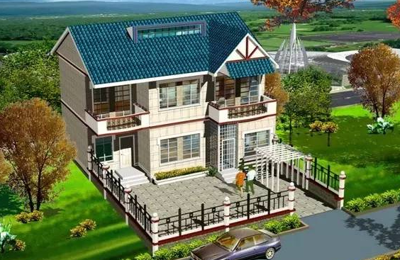 一栋30万农村别墅自建房设计图纸效果图款式