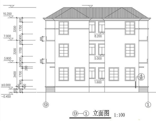 15x12米双拼三层农村别墅设计图纸 效果图+户型图