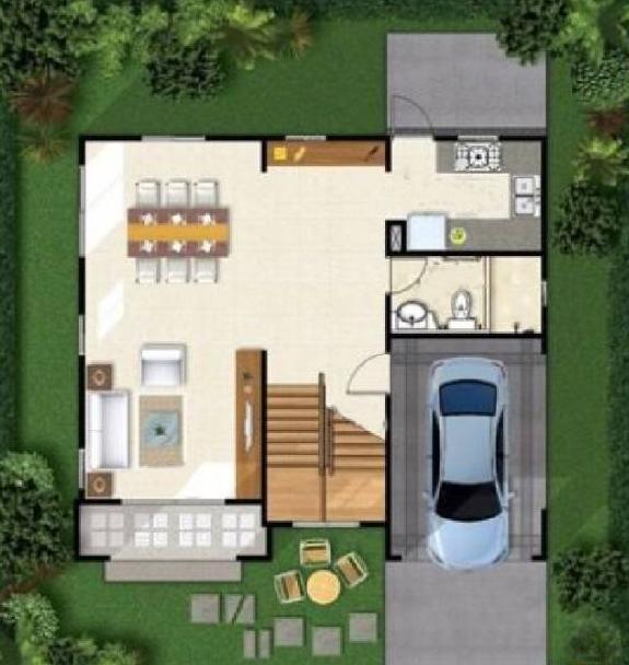 农村别墅平面图效果图小户型分享
