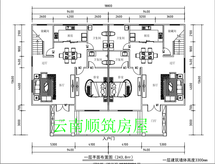 云南河口胡总三层欧式兄弟双拼轻钢别墅案例直播