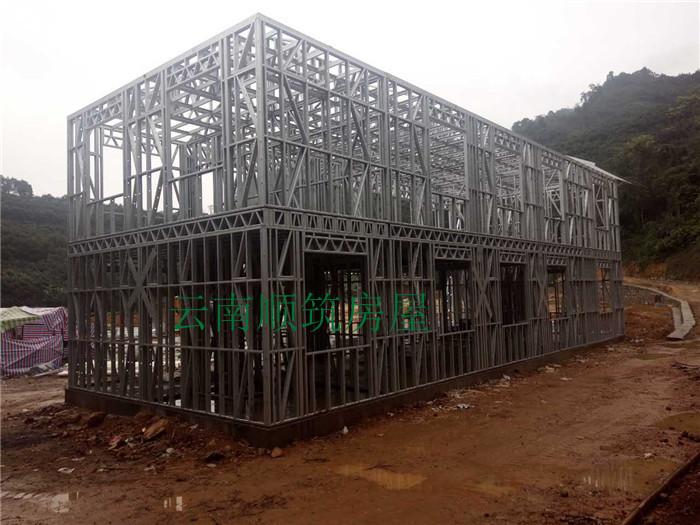 云南红河轻型钢结构房屋办公楼案例建房直播展示