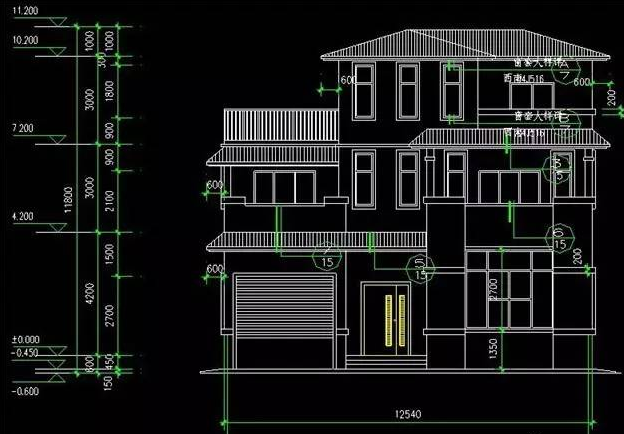 5mx12m中式田园风自建轻钢结构别墅,外型厚重,美观