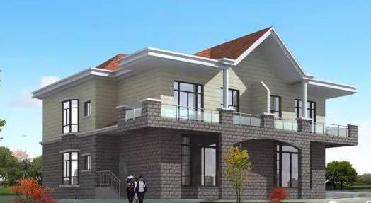 下面顺筑房屋介绍一款农村双拼自建轻钢别墅