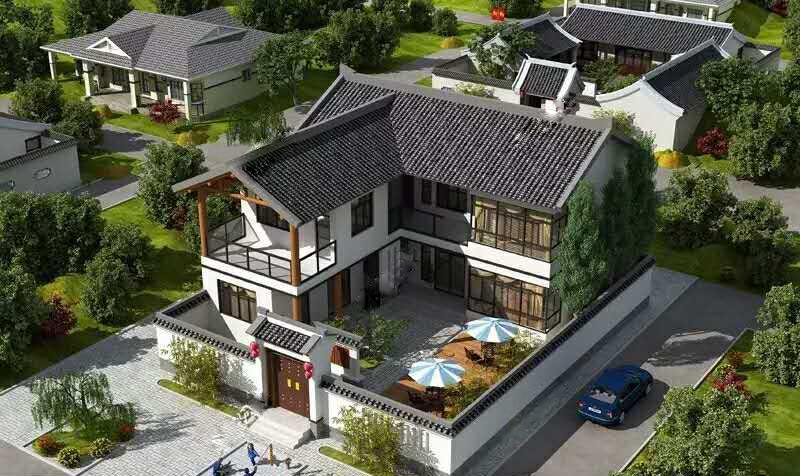 富宁县带庭院农村小别墅建设案例  顺筑房屋轻钢结构住宅经计算机设计