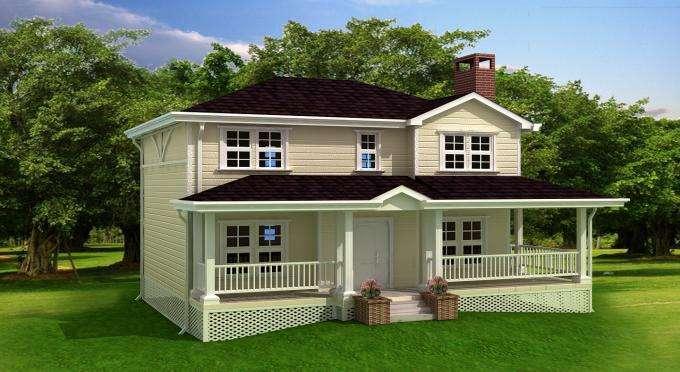 农村钢结构住宅,冷弯薄壁轻钢房屋效果图