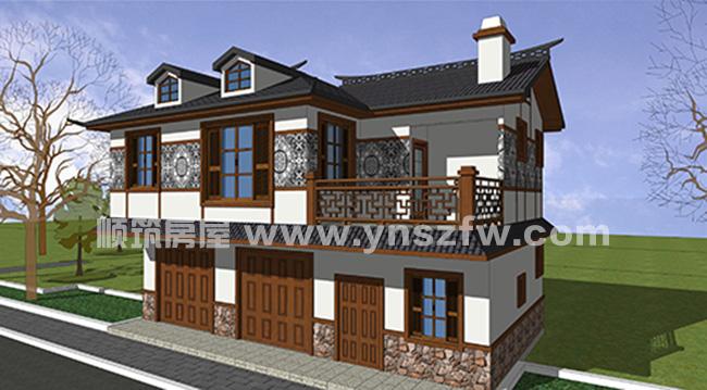 轻钢自建房底层商铺两层轻钢别墅施工案例  项目地址:贵州省兴义市 建
