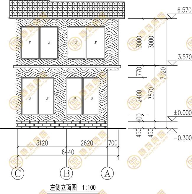 轻钢建筑,两层轻钢结构农房建筑