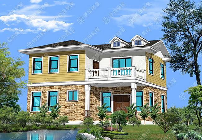 顺筑资讯 15万钢构别墅效果图轻钢装配式建筑  目前市场钢结构建筑