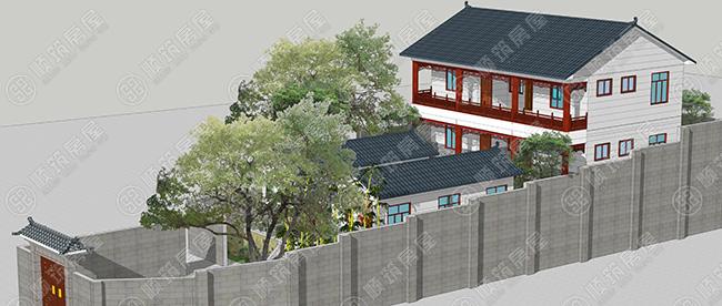 冷弯薄壁轻钢结构农村现代四合院