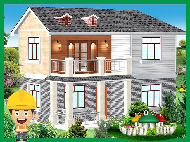 顺筑房屋昆明轻型钢结构别墅房屋样板房