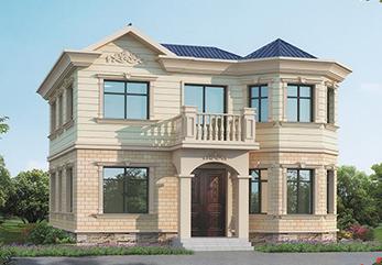 云南会泽县轻型钢结构住宅建设案例2层农村小别墅