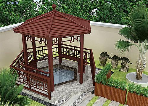 轻钢装配式八角亭农村别墅花园配套设施