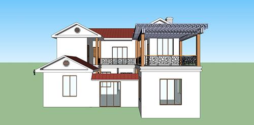 昆明市石林县2层228㎡带露台轻钢装配式别墅建设案例