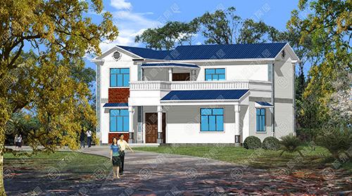 大理洱源新型农村自建房轻钢别墅建房案例