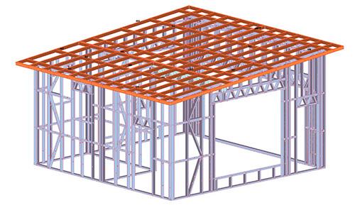 云南普洱无量山单层轻钢农房建筑施工案例
