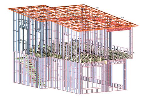 云南普洱无量山两层轻钢结构建筑施工案例
