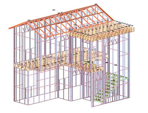 云南石林县2层轻钢结构自建小别墅施工案例