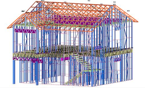 四川凉山州雷波县2层轻钢结构农房建筑施工案例