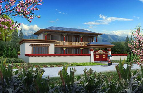 204㎡藏族风格农村房屋新型冷弯薄壁轻钢结构户型方案