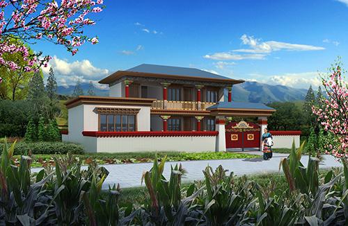 150㎡藏式二层自建房轻钢别墅建筑案例