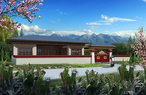 90㎡单层藏族民居新型轻钢结构建筑施工案例