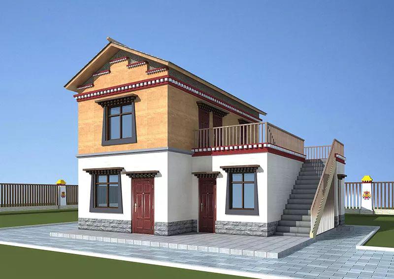 125平米两层藏式风格u优乐国际娱乐官网别墅民居