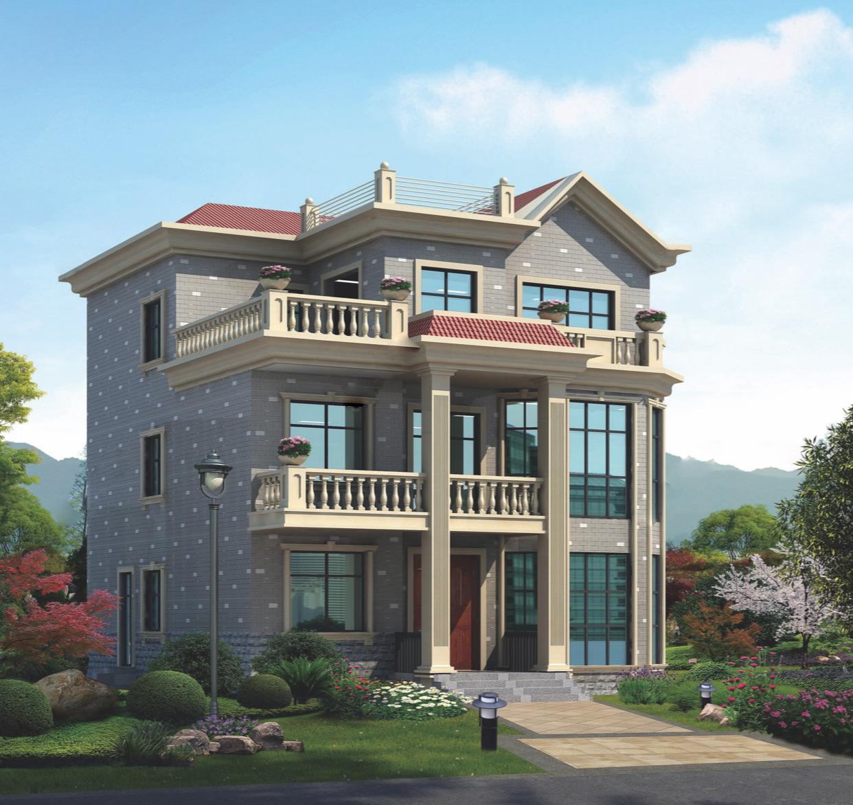 四川成都481平米三层轻钢别墅施工案例