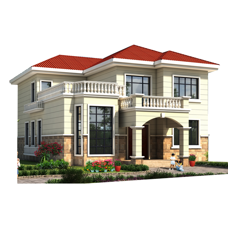 280平方宣威农村自建房轻钢别墅户型方案