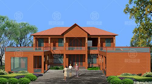 楚雄武定猫街两层轻钢别墅建筑案例图片全集
