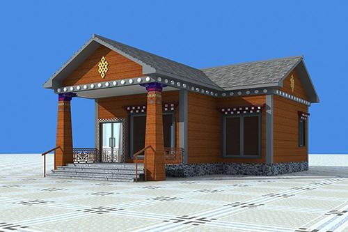 迪庆州单层民宿钢结构建筑案例