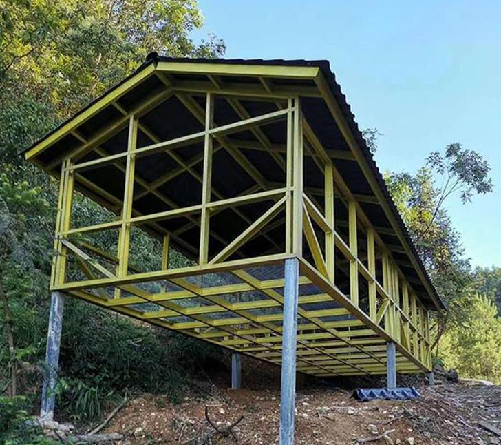 轻钢结构养殖业鸡舍(鸡圈)快速搭建案例展示